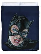 Catwoman Duvet Cover by Leida Nogueira