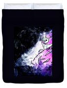 Catwoman Purple Suit Duvet Cover