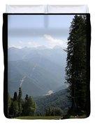 Caucasus Mountains - Krasnaya - Sochi Russia Duvet Cover
