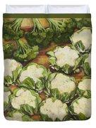 Cauliflower March Duvet Cover by Jen Norton