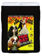 Cavalier King Charles Spaniel Art - Top Hat Movie Poster Duvet Cover
