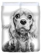 Cavalier King Charles Spaniel Puppy Dog Portrait Duvet Cover