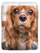 Cavalier King Charles Spaniel Puppy Duvet Cover