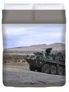 Cavalry Troopers Fire Duvet Cover