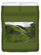 Cave Dale From Peveril Castle Duvet Cover