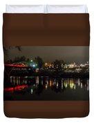 Caveman Bridge And Taprock At Christmas - Panorama Duvet Cover