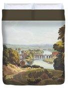 Caversham Bridge, Near Reading Duvet Cover by William Havell