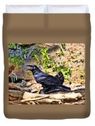 Caw And Friend Duvet Cover