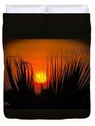 Cayo Grande Palm Tree Sunrise Duvet Cover