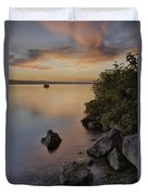 Cayuga Sunset I Duvet Cover by Michele Steffey