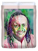 Cecil Taylor - Watercolor Portrait Duvet Cover