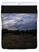 Cedar Park Texas Cedar And Clouds Sunset Duvet Cover