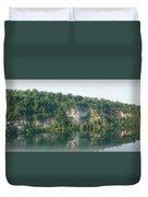 Cedar Hollow Quarry Panorama Duvet Cover