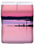 Cedar Island Pinks Duvet Cover