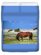 Cedar Island Wild Mustangs 59 Duvet Cover