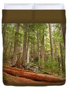 Cedar Logs At Garibaldi Duvet Cover