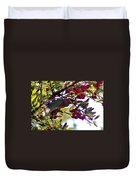 Cedar Waxwing In Flight 030515a Duvet Cover