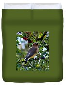 Cedar Waxwing In Tree 030515a Duvet Cover