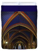 Ceiling Of The Sainte-chapelle  Paris Duvet Cover