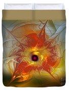 Celebration For A Rising Star-abstract Fractal Art Duvet Cover