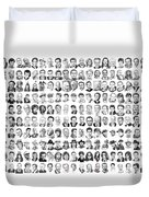 Celebrity Drawings Duvet Cover