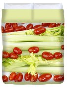 Celery And Tomatoes Duvet Cover