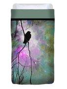 Celestial Dream Of Crow Duvet Cover