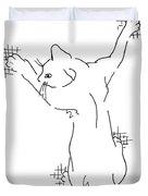 Cell-phone-cover-cat1 Duvet Cover