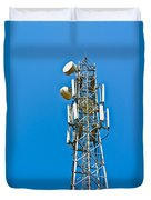 Cell Tower And Radio Antennae Duvet Cover