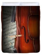 Cello Bridge And Beethoven Duvet Cover