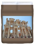 Celsus Library In Ephesus Duvet Cover