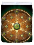Celtic Chieftain Shield - Emerald Duvet Cover by Richard Barnes