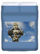 Celtic Cross, Cong Abbey, Ireland Duvet Cover