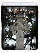 Celtic Cross In Savannah Duvet Cover