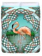 Celtic Flamingo Art Duvet Cover