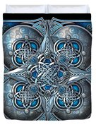 Celtic Hearts - Blue And Silver Duvet Cover