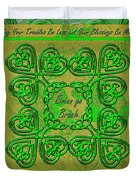 Celtic Irish Clover Home Blessing Duvet Cover