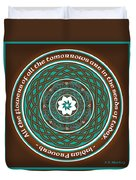 Celtic Lotus Mandala Duvet Cover