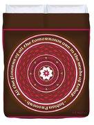 Celtic Lotus Mandala In Pink And Brown Duvet Cover