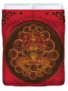 Celtic Pagan Fertility Goddess In Red Duvet Cover