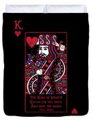 Celtic Queen Of Hearts Part IIi The King Of Hearts Duvet Cover