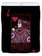 Celtic Queen Of Hearts Part Iv The Broken Knave Duvet Cover