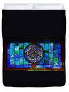 Celtic Stained Glass Horizontal Duvet Cover