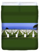 Cemetery At Waterfront, Fort Rosecrans Duvet Cover
