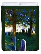 Cemetery Color 2 Duvet Cover