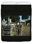 Cemetery Gate With Peeling Paint Duvet Cover