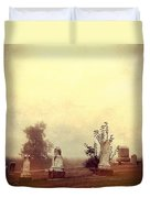 Cemetery In The Fog Duvet Cover