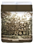 Cemetery Sunflares Duvet Cover
