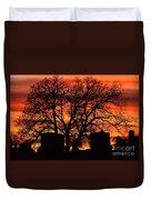 Cemetery Sunset Duvet Cover