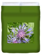 Centaurea Montana Blue Flower Duvet Cover